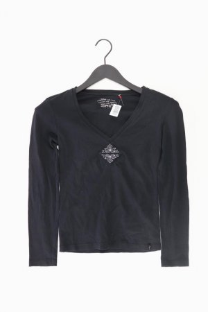 Esprit Shirt mit V-Ausschnitt Größe XS Langarm schwarz