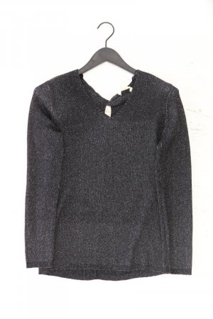 Esprit Shirt mit V-Ausschnitt Größe XXL Langarm mit Glitzer schwarz aus Polyester