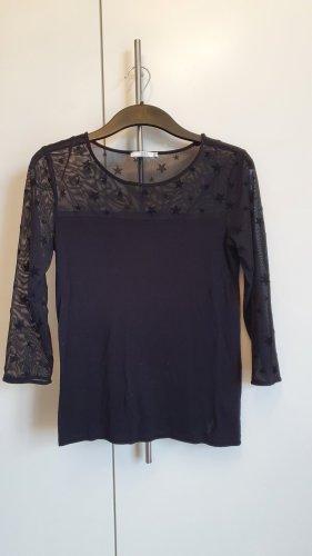 Esprit Shirt schwarz Sterne Gr. XS Neu