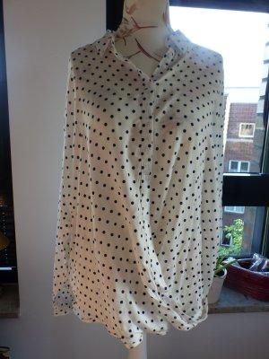 Esprit Shirtbluse - weiß mit dunkelblauen Punkten - nie getragen