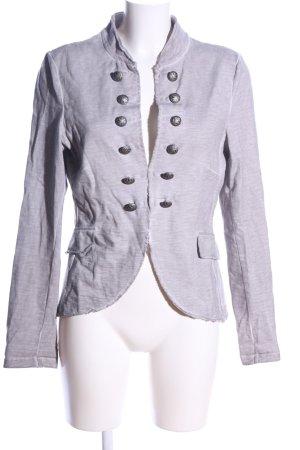 Esprit Chaqueta estilo camisa gris claro moteado look casual