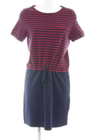 Esprit Shirtkleid blau-rot Streifenmuster Casual-Look