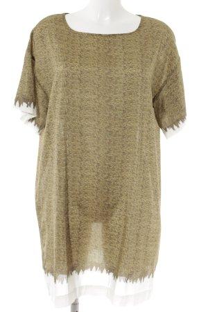 Esprit Shirtkleid olivgrün-wollweiß abstraktes Muster Casual-Look