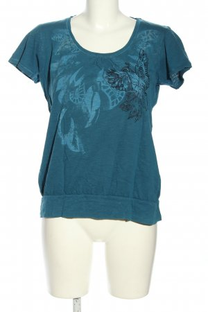 Esprit Shirt Tunic blue-black abstract pattern casual look