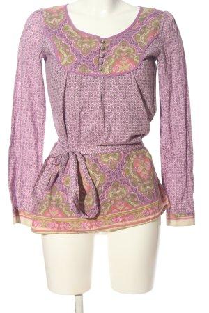 Esprit Tunikabluse pink-khaki Allover-Druck Casual-Look