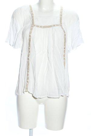 Esprit Shirt Tunic natural white-brown vintage look