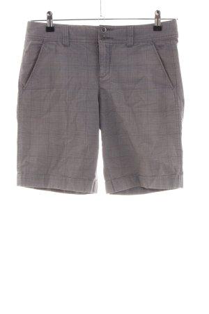 Esprit Shorts hellgrau-braun Karomuster Casual-Look