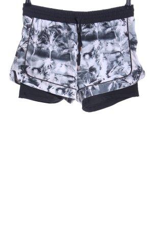 Esprit Shorts schwarz-weiß abstraktes Muster Casual-Look