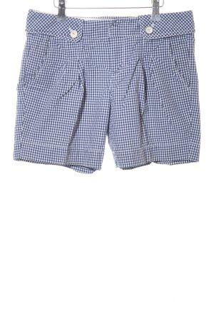 Esprit Shorts blau-weiß Karomuster Casual-Look
