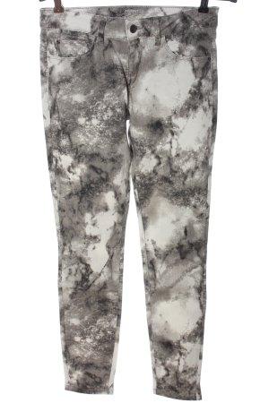Esprit Skinny Jeans hellgrau-wollweiß Allover-Druck Casual-Look