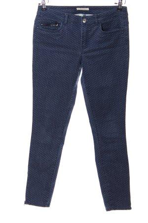 Esprit Skinny Jeans blau-weiß Allover-Druck Casual-Look