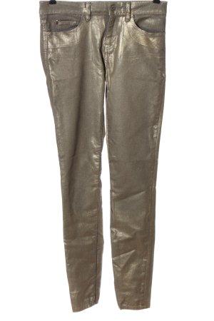 Esprit Slim Jeans goldfarben Glitzer-Optik