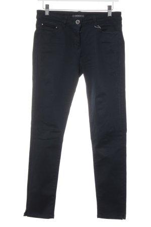 Esprit Slim Jeans dunkelblau Webmuster Casual-Look