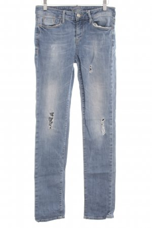 Esprit Slim Jeans hellblau Logo-Applikation aus Leder