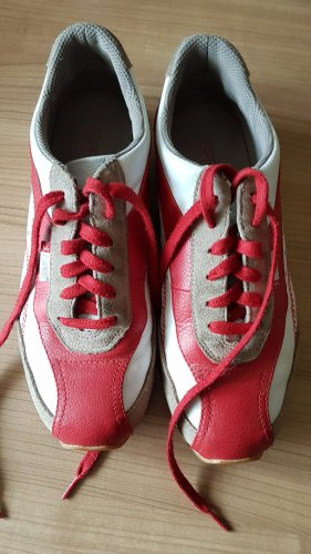 esprit,  Sneaker, 39, rot-weiß, Beige,