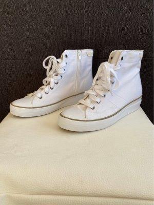Esprit Sneakresy na obcasie biały