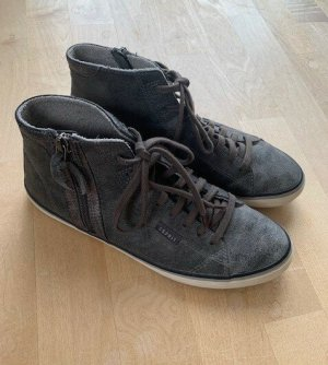 Esprit Sneaker hoch, Gr. 39, grau silber mit Reißverschluß seitl.