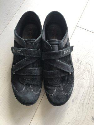 Esprit Sneaker Turnschuhe Gr.42 schwarz Leder