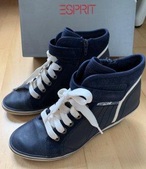 Esprit Platform Trainers dark blue-white