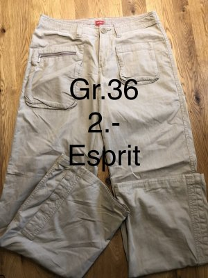 Esprit Pantalon cargo crème