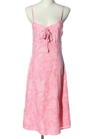 Esprit Sommerkleid pink-weiß Allover-Druck Casual-Look