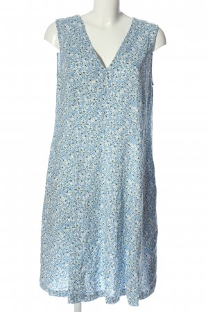 Esprit Sommerkleid blau-weiß Allover-Druck Casual-Look