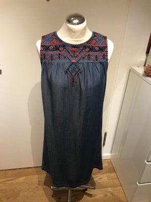 Esprit Denim Dress steel blue-magenta lyocell