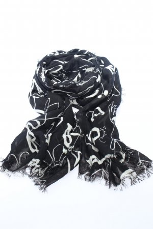 Esprit Sommerschal schwarz-weiß Allover-Druck Casual-Look
