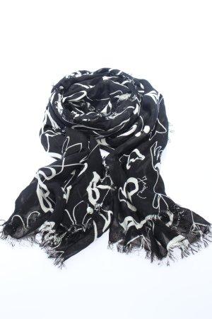 Esprit Zomersjaal zwart-wit volledige print casual uitstraling