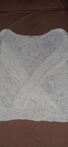 Esprit Pull à gosses mailles blanc tissu mixte