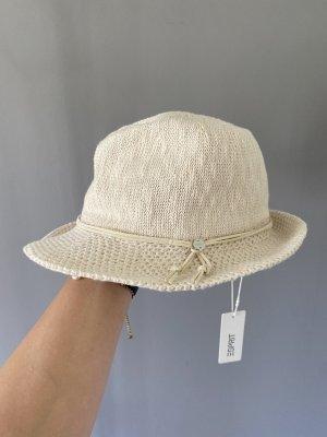 Esprit Sombrero de ala ancha blanco puro