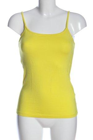 Esprit Top de tirantes finos amarillo pálido look casual