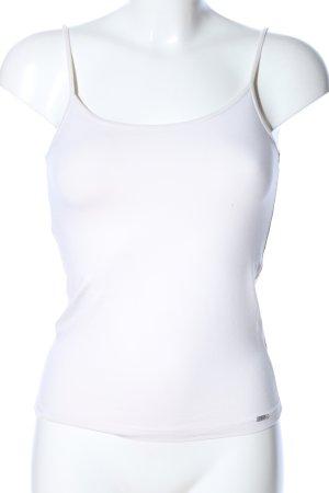 Esprit Haut à fines bretelles blanc style décontracté