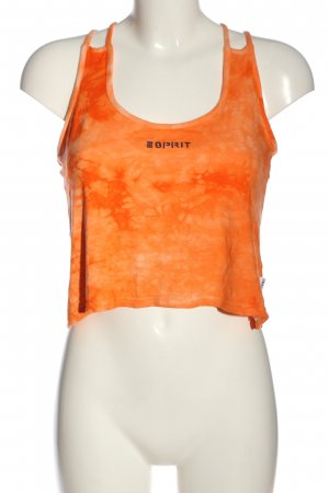 Esprit Spaghettibandtopje licht Oranje abstract patroon casual uitstraling