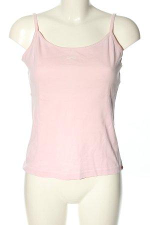 Esprit Top z cienkimi ramiączkami różowy W stylu casual