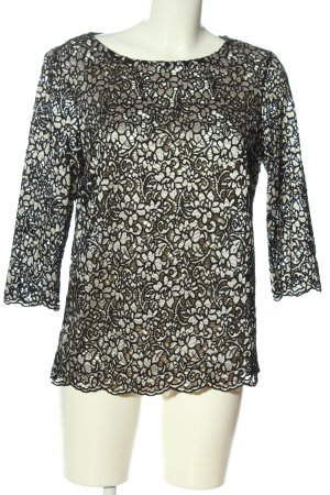 Esprit Lace Blouse black weave pattern casual look