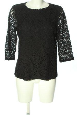 Esprit Koronkowa bluzka czarny W stylu casual