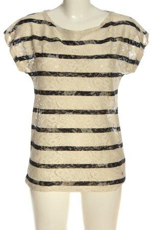 Esprit Lace Blouse cream-black striped pattern casual look