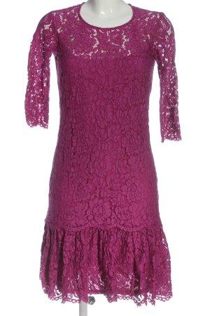Esprit Spitzenkleid pink-schwarz abstraktes Muster Casual-Look