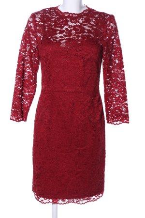 Esprit Spitzenkleid rot Elegant
