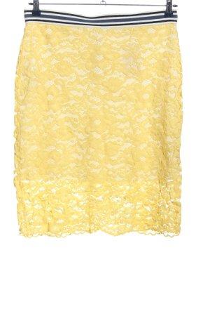 Esprit Koronkowa spódnica bladożółty Elegancki