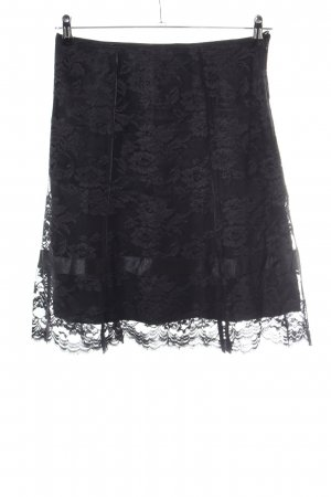 Esprit Lace Skirt black flower pattern casual look