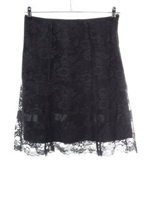 Esprit Falda de encaje negro estampado floral look casual