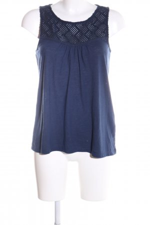 Esprit Lace Top blue flecked casual look
