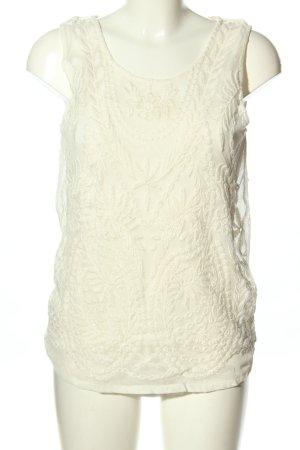 Esprit Top de encaje blanco puro look casual