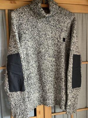 edc by Esprit Pull à gosses mailles noir-blanc laine