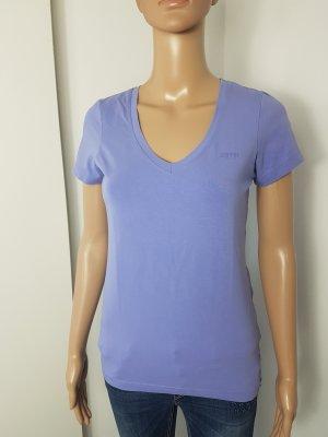 Esprit V-Neck Shirt grey lilac cotton