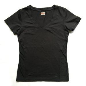 Esprit Sports Funktionsshirt E-Dry T-Shirt schwarz Polyester Elasthan Gr. 40 WIE NEU
