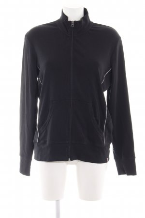 Esprit Sports Sweatjack zwart casual uitstraling