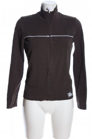Esprit Sports Sweat Jacket brown-white casual look